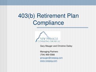 403b Retirement Plan Compliance