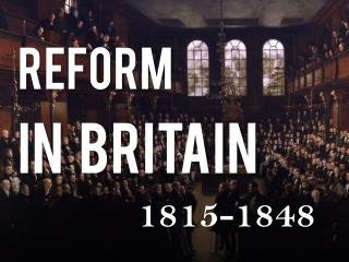 REFORM    IN   BRITAIN