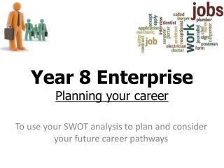 Year 8 Enterprise P lanning your career
