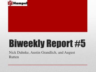 Biweekly Report #5