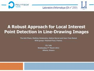 A Robust Approach for Local Interest Point Detection in Line-Drawing Images