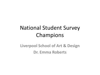 National Student Survey Champions