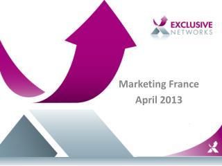 Marketing France  April 2013