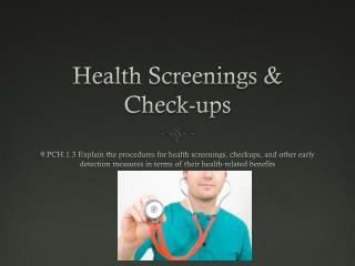 Health Screenings & Check-ups