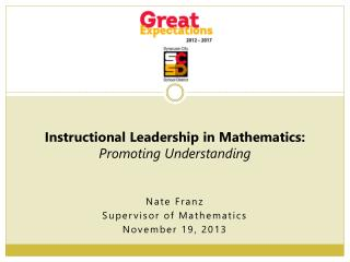 Nate Franz Supervisor of Mathematics November 19,  2013