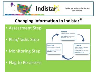 Changing information in Indistar ®