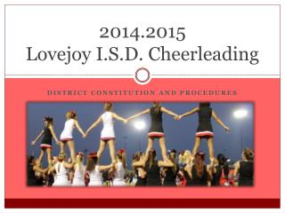 2014.2015  Lovejoy I.S.D. Cheerleading