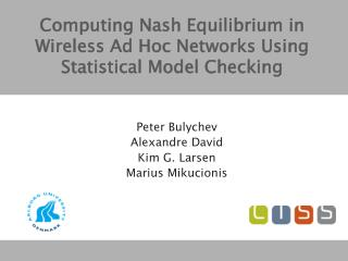 Computing Nash Equilibrium in Wireless Ad Hoc Networks Using Statistical Model Checking