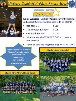 Webster Football & Cheer Starts Here!