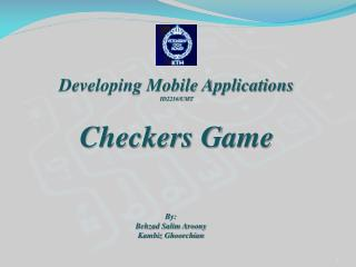 Developing Mobile Applications ID2216/UMT