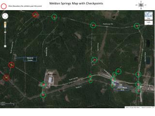 Weldon Springs Map with Checkpoints