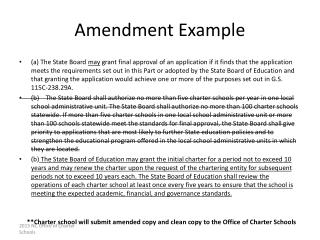 Amendment Example