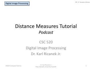 Distance Measures Tutorial Podcast
