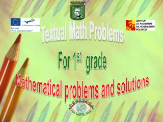 Textual Math Problems For 1 st   grade Mathematical problems and solutions