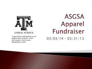 ASGSA  Apparel  Fundraiser