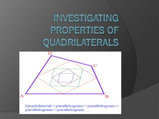 INVESTIGATING PROPERTIES OF QUADRILATERALS