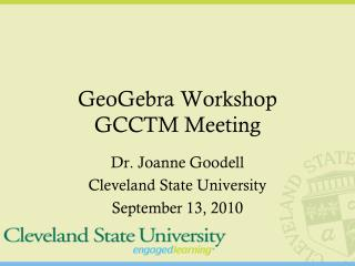 GeoGebra  Workshop GCCTM Meeting