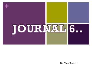 JOURNAL 6..