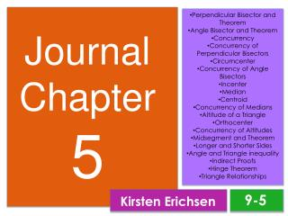Journal Chapter  5