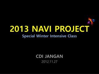 2013 NAVI PROJECT Special Winter Intensive Class