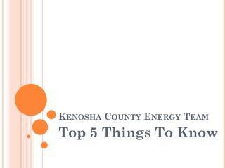 Kenosha County Energy Team