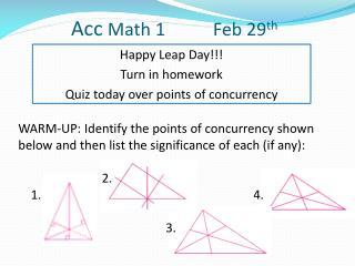 Acc  Math 1 Feb  29 th