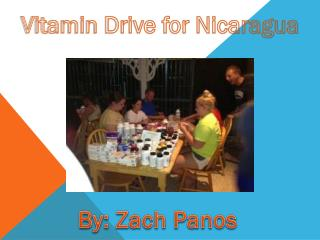 Vitamin Drive for Nicaragua