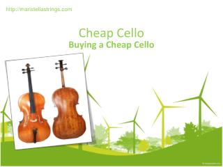 Cheap Cello – Buying a Cheap Cello