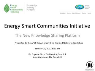 Energy Smart Communities Initiative