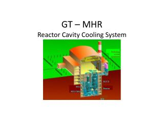 GT – MHR Reactor Cavity Cooling System