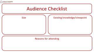 Audience Checklist