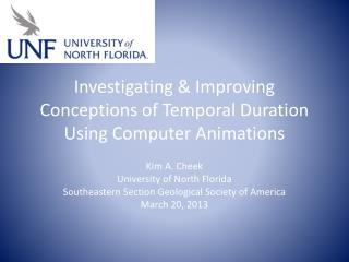 Investigating & Improving Conceptions of Temporal Duration Using Computer Animations