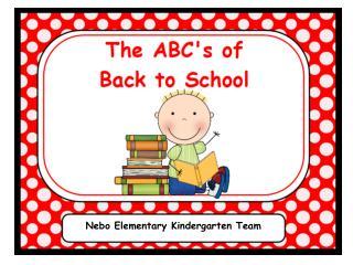 Nebo Elementary Kindergarten Team