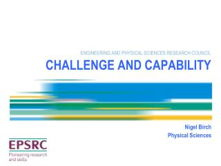 CHALLENGE AND CAPABILITY