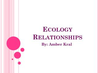 Ecology Relationships