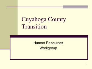 Cuyahoga County Transition