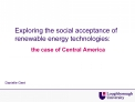 Exploring the social acceptance of renewable energy technologies: