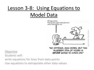 Lesson 3-8:  Using Equations to Model Data