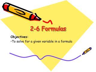 2-6  Formulas