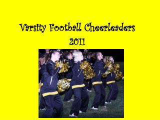 Varsity Football Cheerleaders