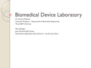 Biomedical Device Laboratory