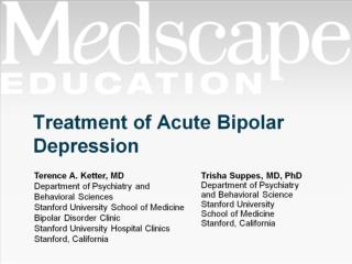Treatment of Acute Bipolar Depression