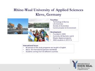 Rhine-Waal University of Applied Sciences Kleve, Germany