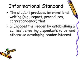Informational Standard