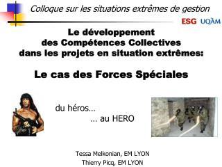 Le d veloppement  des Comp tences Collectives dans les projets en situation extr mes:   Le cas des Forces Sp ciales