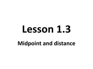 Lesson 1.3