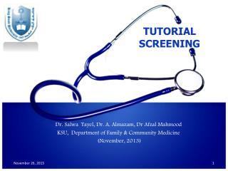 Dr. Salwa  Tayel, Dr. A.  Almazam , Dr Afzal Mahmood