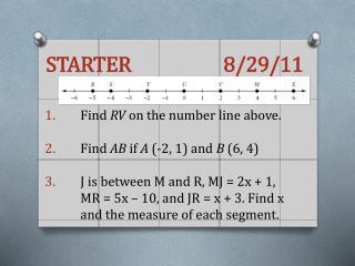 STARTER      8/29/11