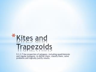 Kites and Trapezoids