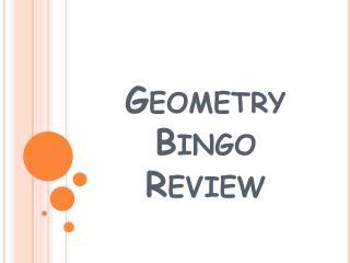 Geometry Bingo Review